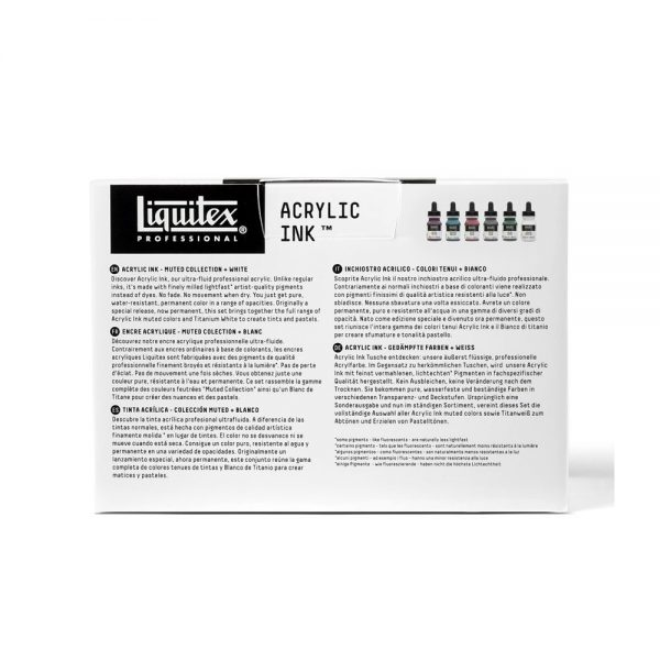 Liquitex Ink Muted Collection Package Back